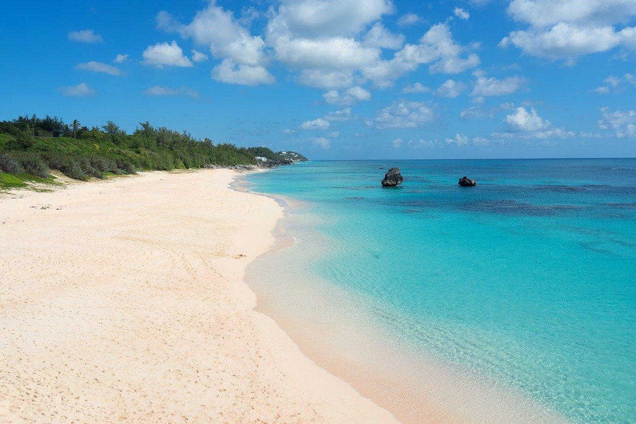 bermuda, pink sand, beach