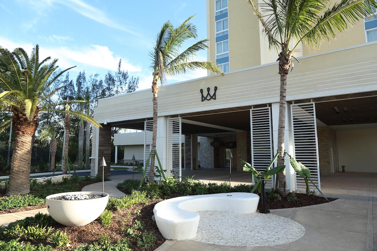 Warwick Paradise Island Bahamas Entrance with crown logo