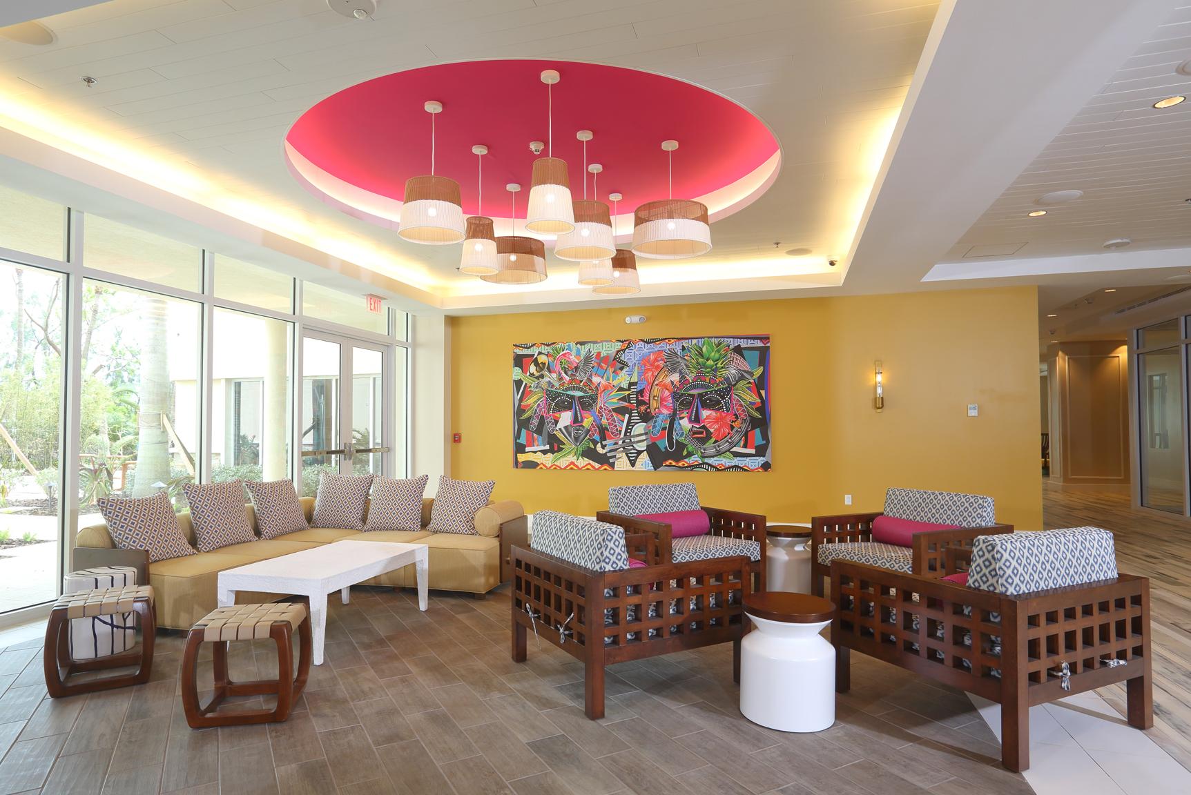 Warwick Paradise Island Bahamas - Sitting area in lobby